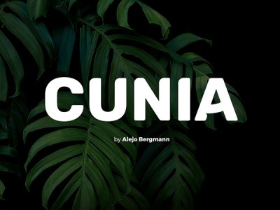 Cunia - free display font
