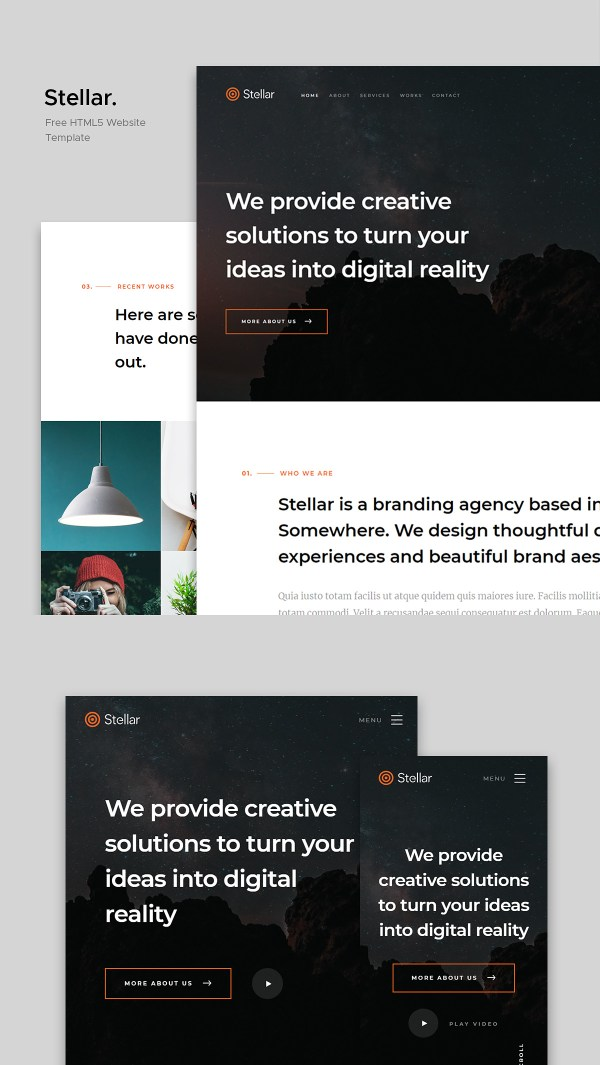 Stellar - Free Digital Agency Website Template