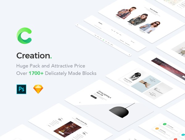 Creation Web UI Kit Free Sample - 1
