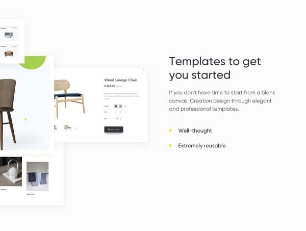 Creation Shop UI Kit Free Sample - 4