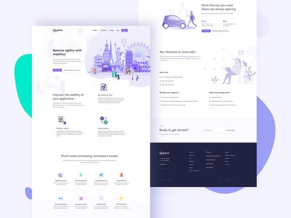 GoHub - Free PSD Landing Page - 1
