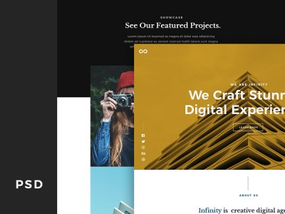Infinity - Agency Portfolio Free PSD Website Template