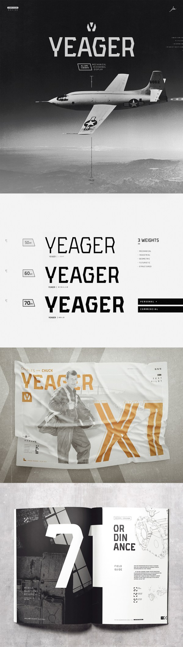 Yeager - Free Display Typeface