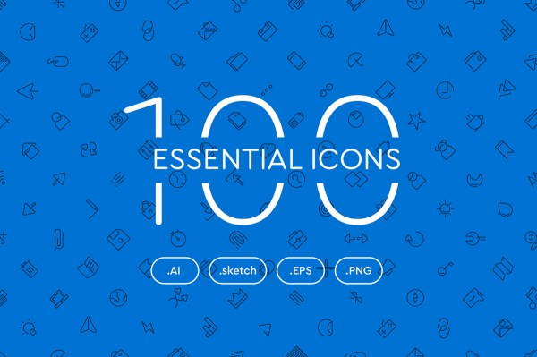 100 Free Essential Icons Set 01