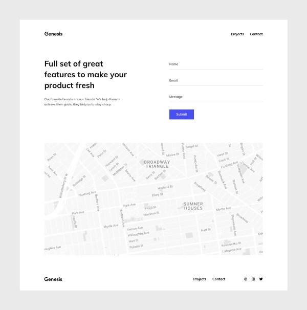 Genesis - Free Portfolio Template 03