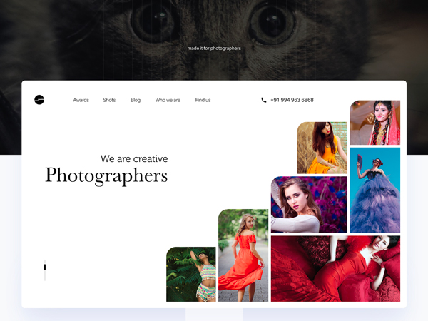 Free Photographer Portfolio Template
