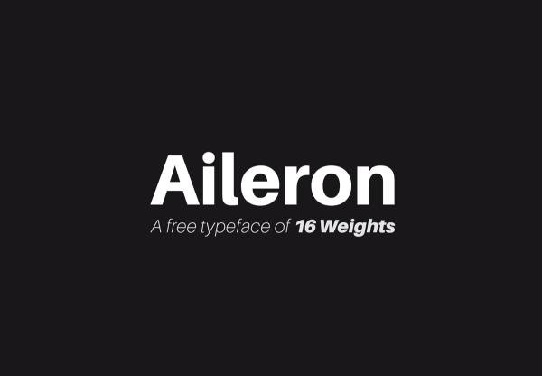 Aileron - Neo-Grotesque Sans-Serif Free Font 01