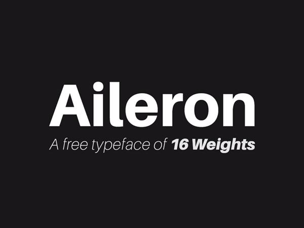 Aileron - Neo-Grotesque Sans-Serif Free Font
