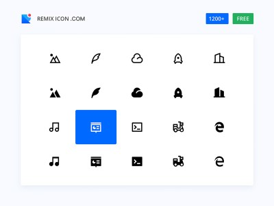 Remix Icon - Open Source Free Icons Library