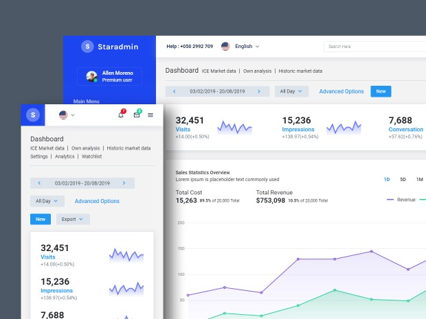 Star Admin -  Free Admin Dashboard Template 01
