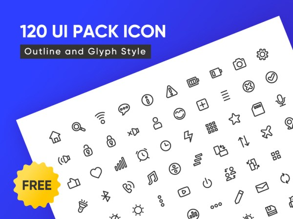 Free 120 UI Pack Icon