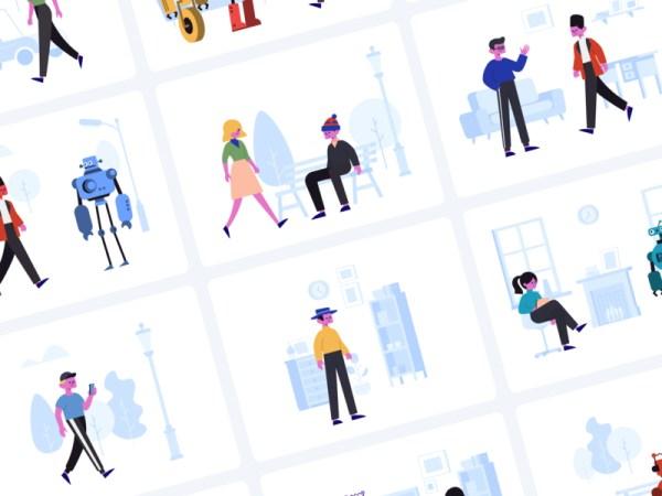 Stubborn Free Illustrations Generator