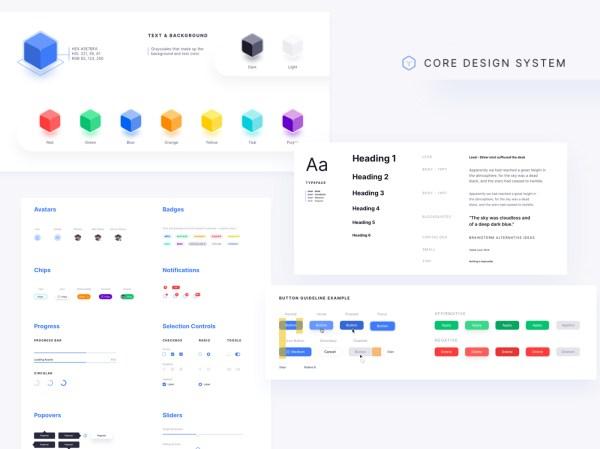 Core Design System - Free Sketch File 02