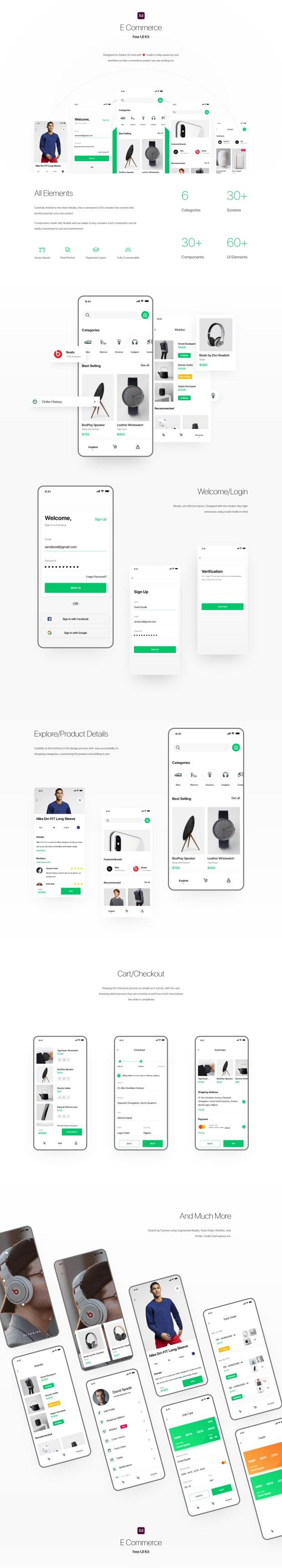 E-commerce App Free UI Kit