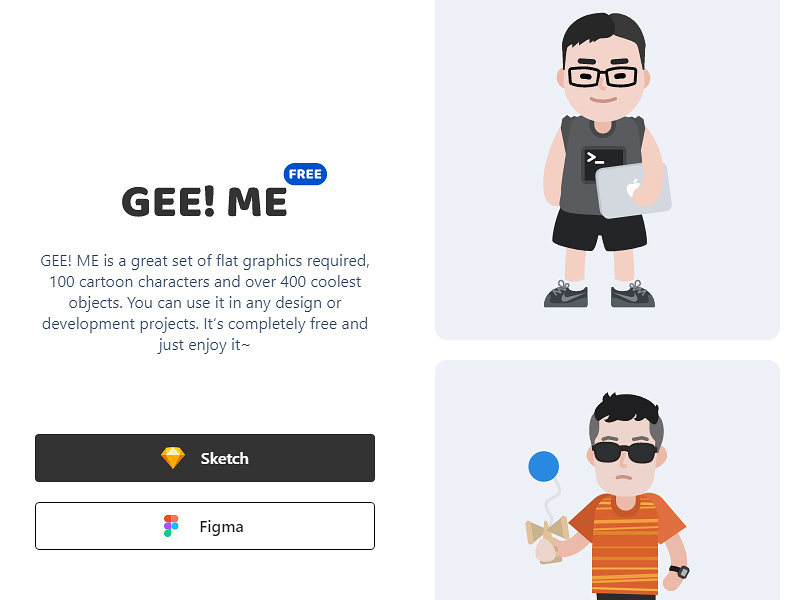 Gee! Me — Free Vector Characters