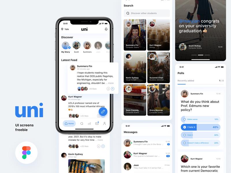 Uni — Free UI Kit for Figma