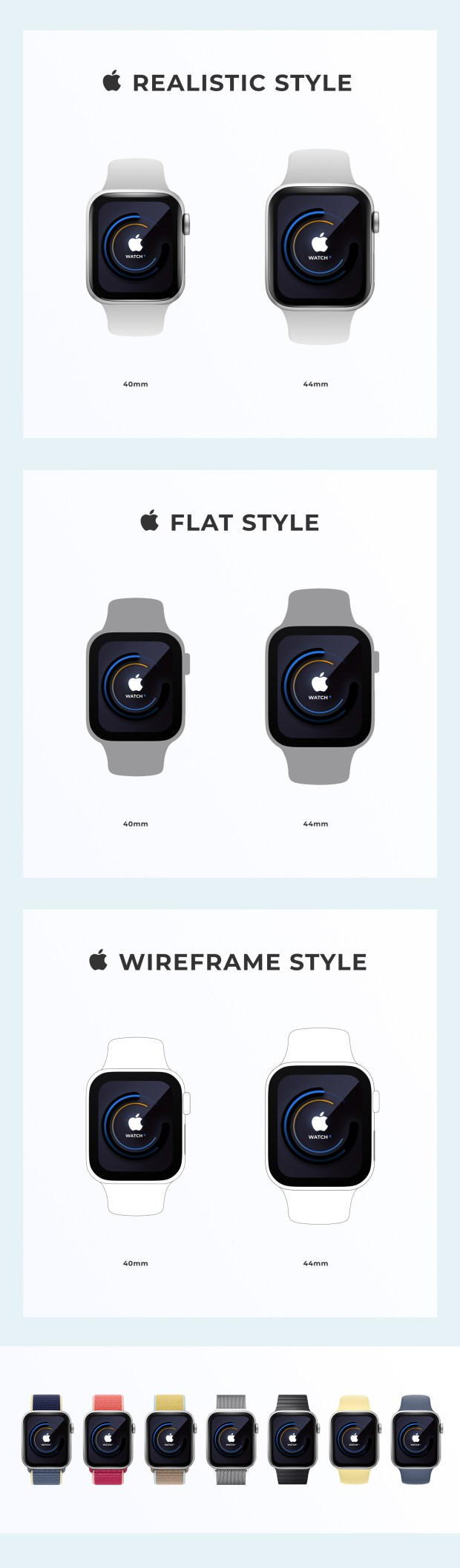 Apple Watch Mockup for Figma
