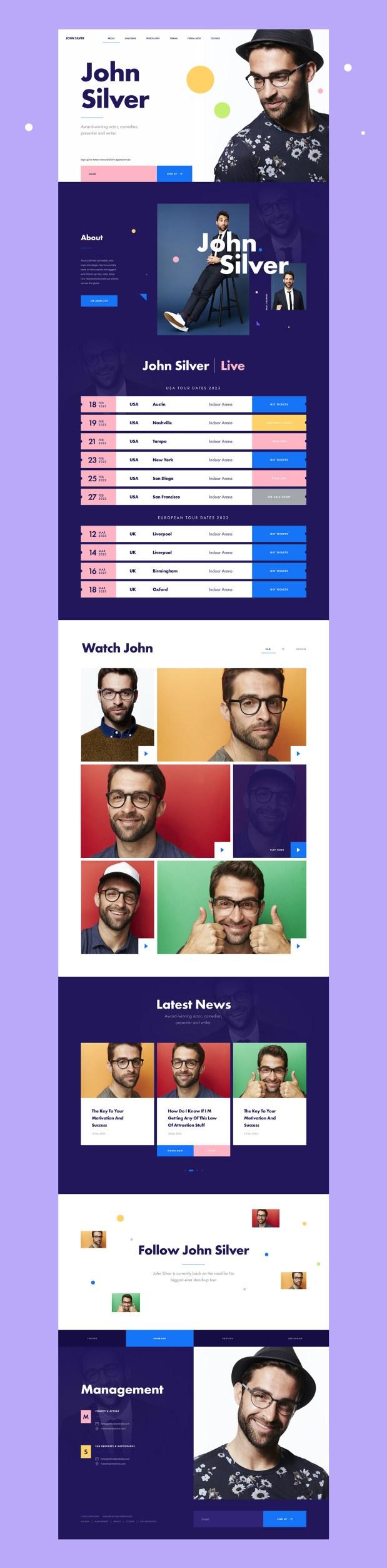 MI Comedian — Free Sketch App Website Template