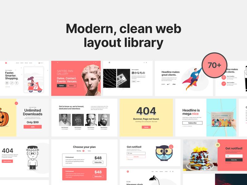 Bright Kit - Free Web Layouts UI Kit