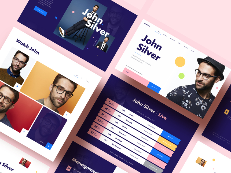 MI Comedian — Free Sketch App Website Template