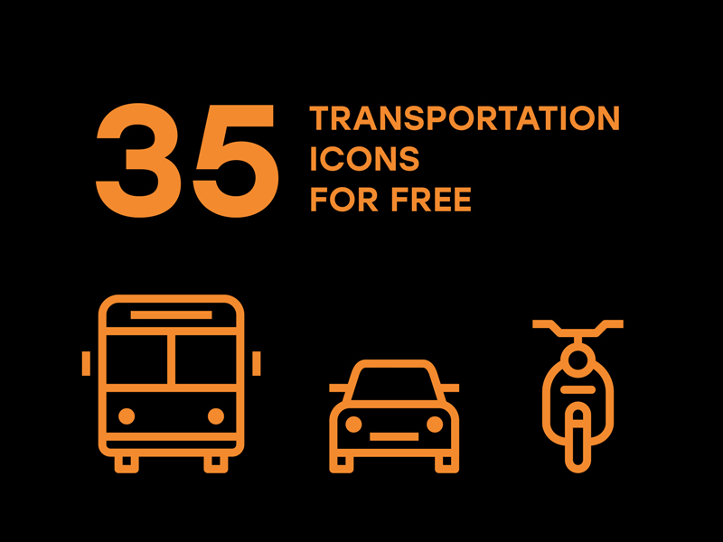 35 Free Transportation Icons