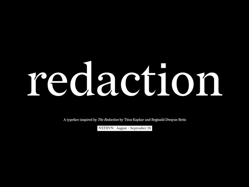 Redaction Free Serif Typeface