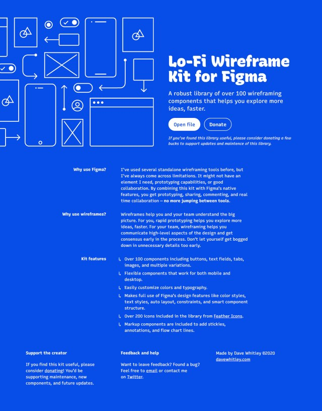 Lo-fi Wireframe Kit for Figma