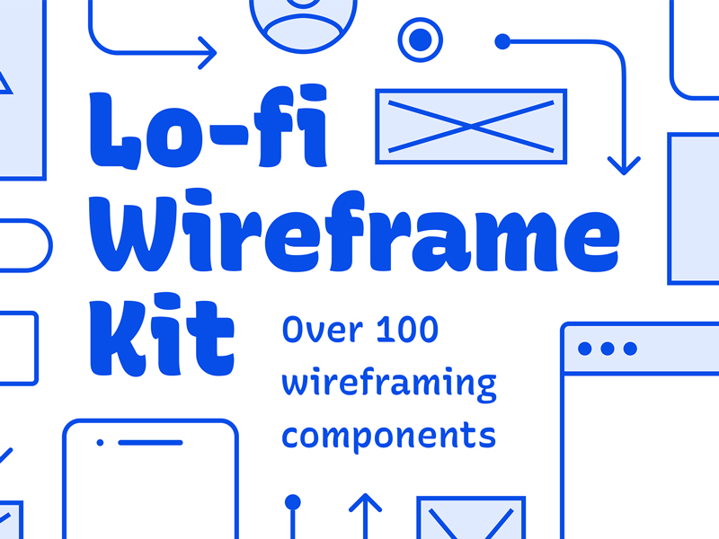 Lo-fi Wireframe Kit for Figma