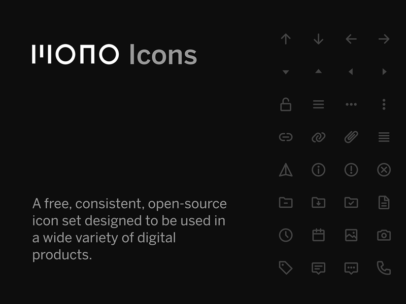Mono Icons — Free Icons for UI Design