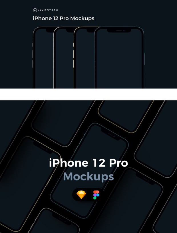 iPhone 12 Pro Free Vector Mockups