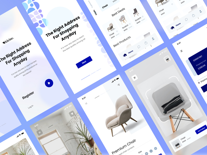 Kleine E-Commerce Free UI Kit for Adobe XD