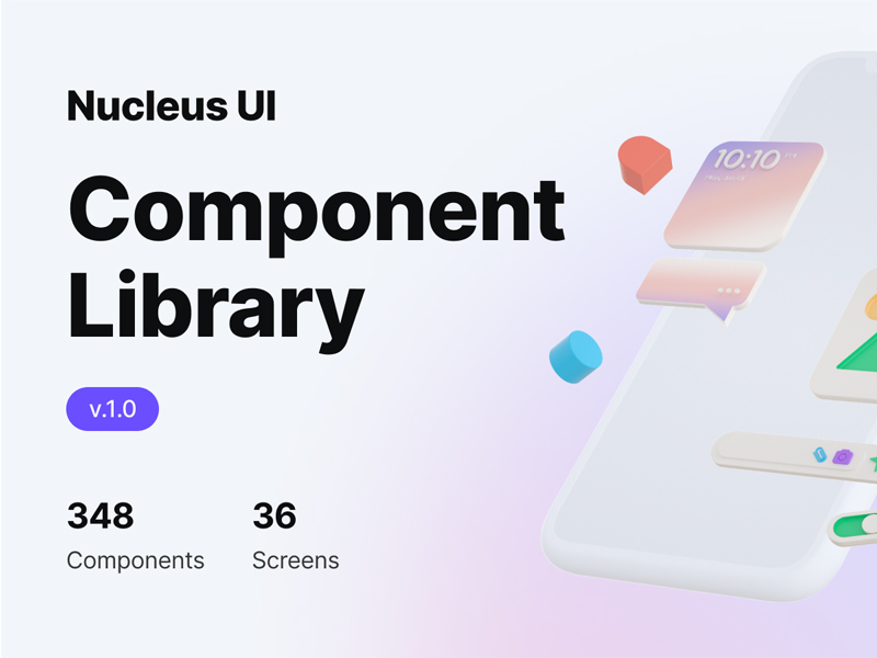 Nucleus UI — Free UI Component Library for Figma
