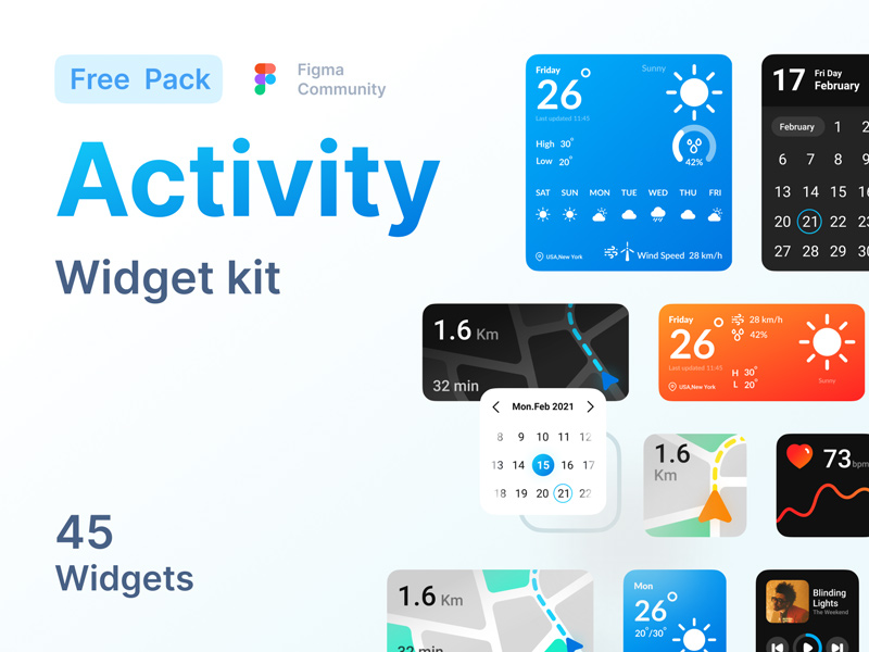 Free Activity Widget Kit for FigmaFree Activity Widget Kit for Figma