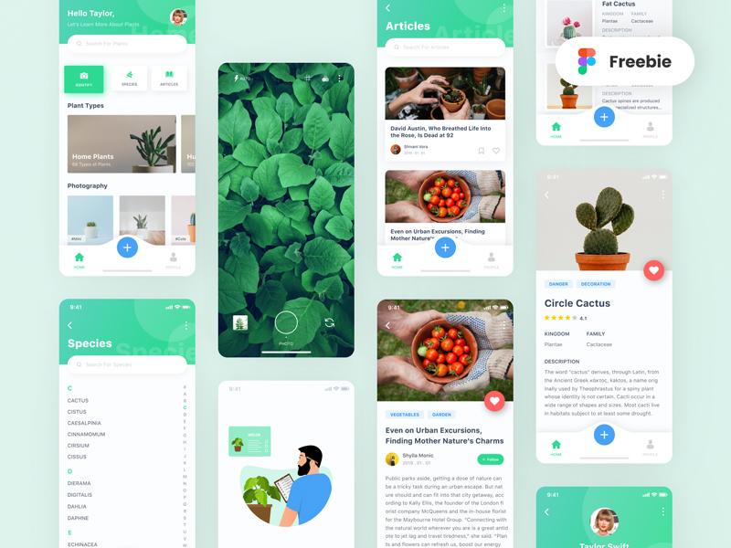 Plant App Free UI Kit for Figma