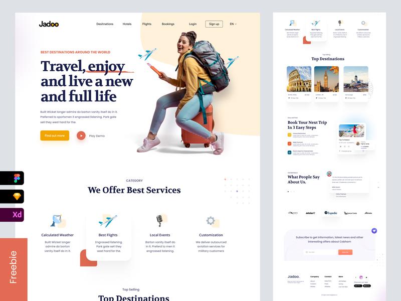 Travel Agency Free Landing Page
