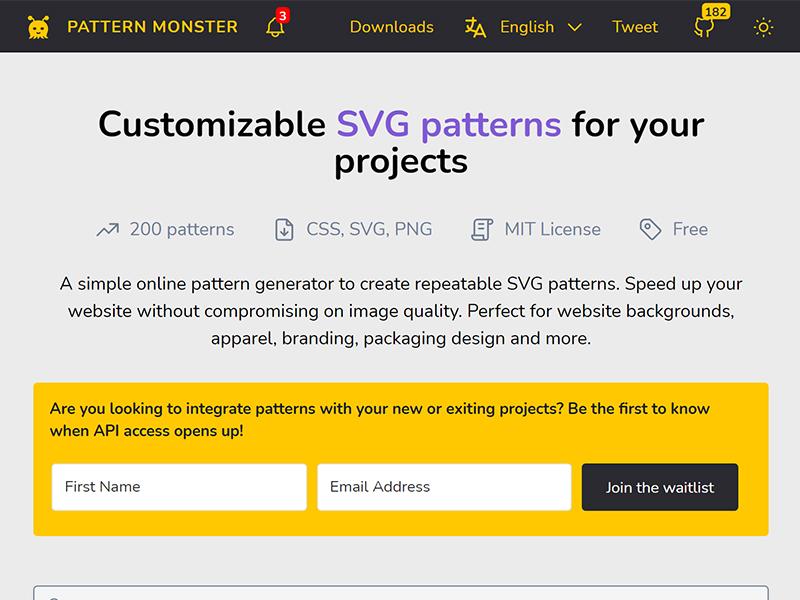 Pattern Monster - SVG Pattern Generator