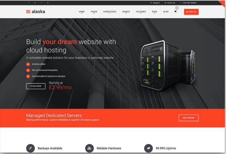 10 Best Hosting WordPress Themes With Full WHMCS Manager Integration