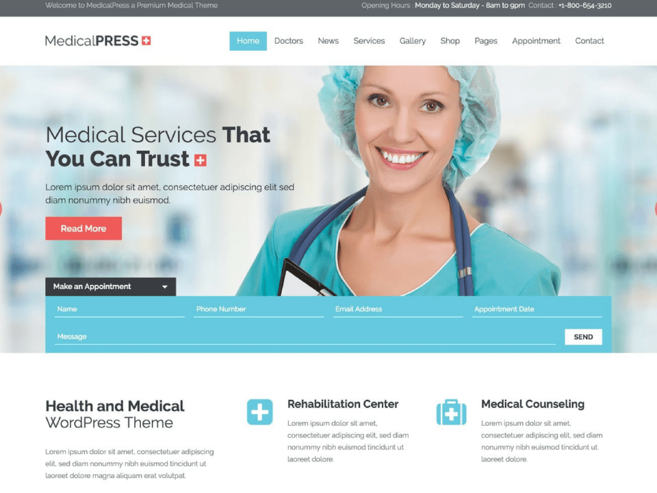 wp themes health