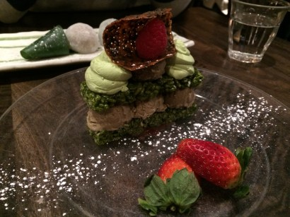 Hojicha Ice Cream Sandwich with Green Tea Rice Cakes