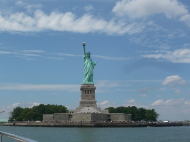 Lady Liberty on a gorgeous day