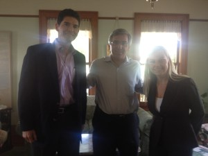 International Community Foundation new board members Gustavo de la Fuente and Susie Albin-Najera with CEO Richard Kiy, January 2014