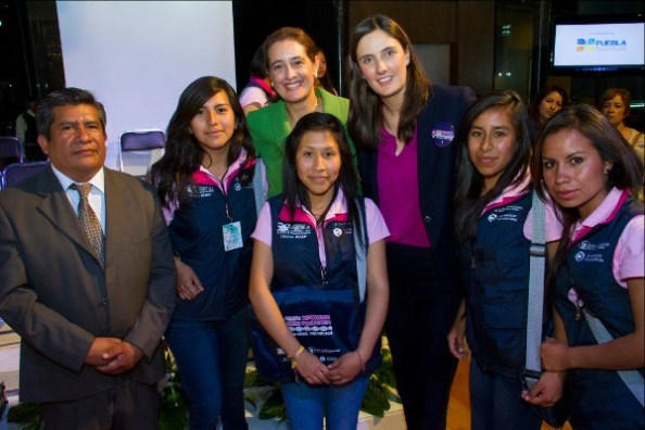 Rebeca Vargas-President and CEO of the USMF with Paty Vasquez, Secretary of Education of Puebla