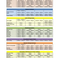 Labor Day (2015) Dining Services Hours of Operation
