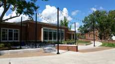 Here's the second outdoor patio area and the main Martin Dining Hall entrance.