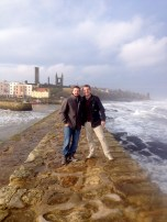 Jared and Ryan with St Andrews in the background