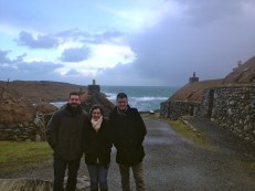 The Restored Gearrannan Black Houses on Isle of Lewis