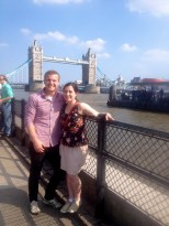 We took a picture here when we first got to the UK and explored London, so we had to take another here this time around
