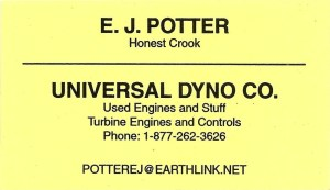 EJ Potter's Business Card