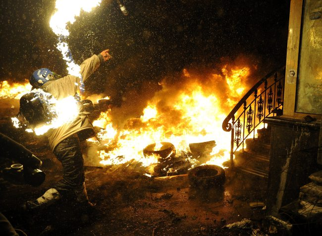 Anti government protest in Ukraine