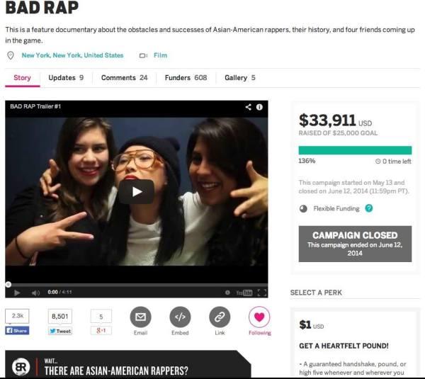 Bad Rap_Indiegogo_Final_Numbers